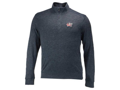 Columbus Blue Jackets NHL Men's Hudson Shear Text Quarter Zip Pullover
