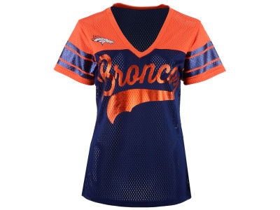 Denver Broncos GIII NFL Women's Pass Rush Mesh T-Shirt