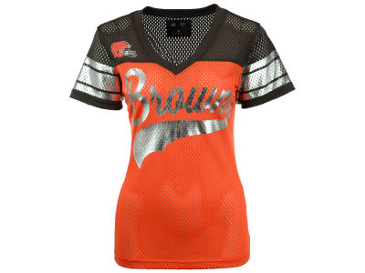 Cleveland Browns GIII NFL Women's Pass Rush Mesh T-Shirt