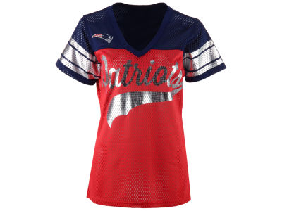 New England Patriots GIII NFL Women's Pass Rush Mesh T-Shirt