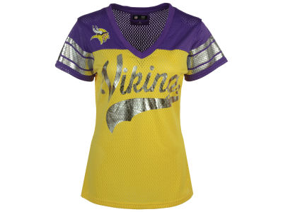 Minnesota Vikings GIII NFL Women's Pass Rush Mesh T-Shirt