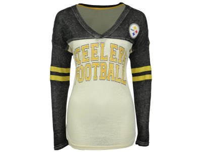 Pittsburgh Steelers GIII NFL Women's Field Position Long Sleeve T-Shirt