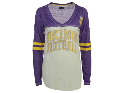 Minnesota Vikings GIII NFL Women's Field Position Long Sleeve T-Shirt