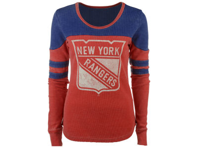 New York Rangers Touch by Alyssa Milano NHL Women's Hat Trick Thermal Long Sleeve T-Shirt