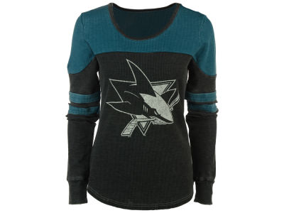 San Jose Sharks GIII NHL Women's Hat Trick Thermal Long Sleeve T-Shirt