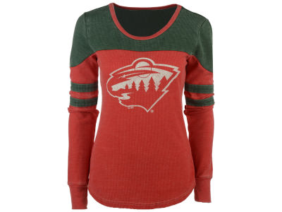 Minnesota Wild GIII NHL Women's Hat Trick Thermal Long Sleeve T-Shirt