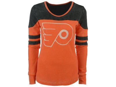Philadelphia Flyers GIII NHL Women's Hat Trick Thermal Long Sleeve T-Shirt