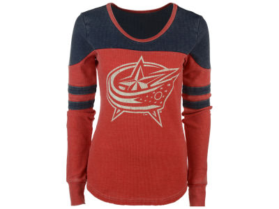 Columbus Blue Jackets GIII NHL Women's Hat Trick Thermal Long Sleeve T-Shirt