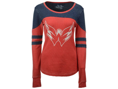 Washington Capitals Touch by Alyssa Milano NHL Women's Hat Trick Thermal Long Sleeve T-Shirt