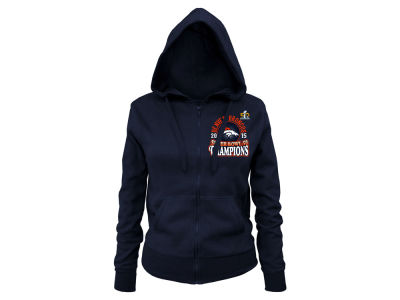 Denver Broncos 5th & Ocean NFL Women's Super Bowl 50 Full Zip Champ Hooded Sweatshirt