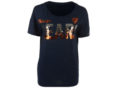 Chicago Bears GIII NFL Women's In The Game Sequin T-Shirt
