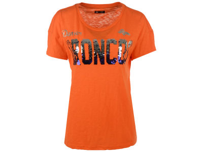 Denver Broncos GIII NFL Women's In The Game Sequin T-Shirt
