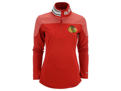 Chicago Blackhawks Reebok NHL Women's Performance Quarter Zip Pullover