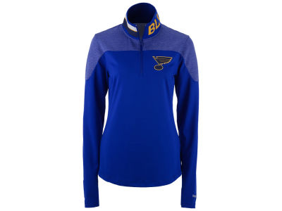 St. Louis Blues Reebok NHL Women's Performance Quarter Zip Pullover
