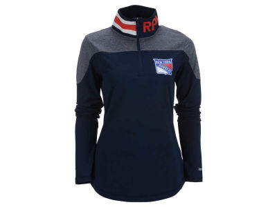New York Rangers Reebok NHL Women's Performance Quarter Zip Pullover