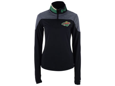Minnesota Wild Reebok NHL Women's Performance Quarter Zip Pullover