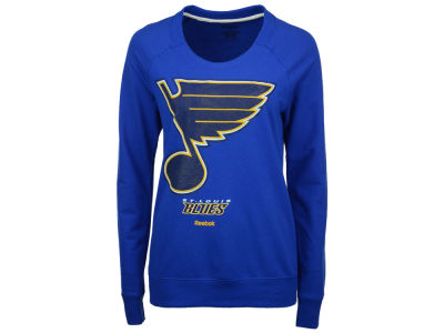 St. Louis Blues Reebok NHL Women's Gel Pattern Crew Sweatshirt