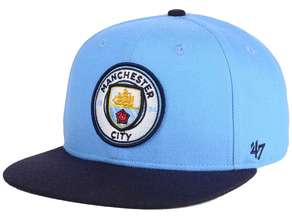 Manchester City  47 English Premier League Sure Shot  47 CAPTAIN Snapback  Cap  754399a1af6