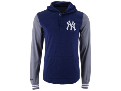 New York Yankees Mitchell and Ness MLB Men's Mid-Season Hooded Long Sleeved T-Shirt