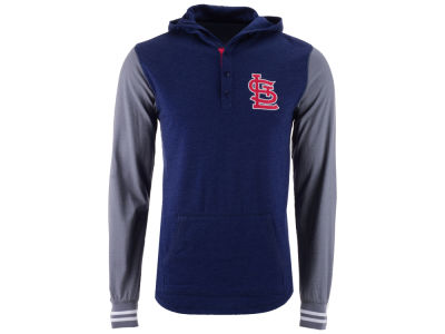 St. Louis Cardinals Mitchell and Ness MLB Men's Mid-Season Hooded Long Sleeved T-Shirt