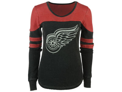 Detroit Red Wings GIII NHL Women's Hat Trick Thermal Long Sleeve T-Shirt