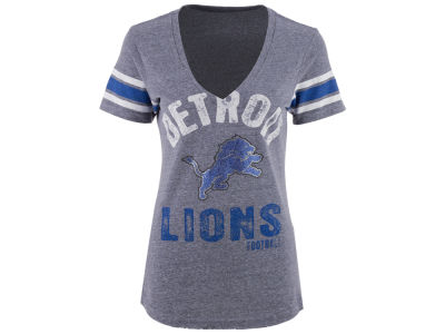 Detroit Lions GIII NFL Women's Any Sunday Rhinestone T-Shirt