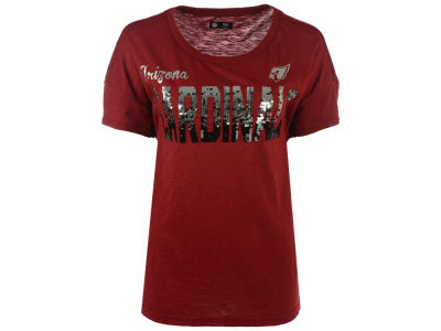 Arizona Cardinals GIII NFL Women's In The Game Sequin T-Shirt