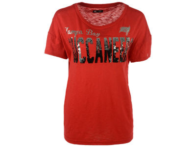 Tampa Bay Buccaneers G-III Sports NFL Women's In The Game Sequin T-Shirt