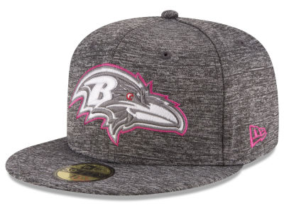 Baltimore Ravens New Era NFL Breast Cancer Awareness Official 59FIFTY Cap