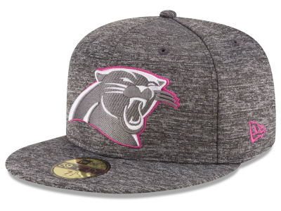 Carolina Panthers New Era NFL Breast Cancer Awareness Official 59FIFTY Cap