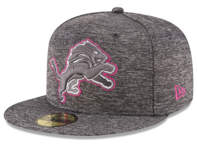 Detroit Lions New Era NFL Breast Cancer Awareness Official 59FIFTY Cap