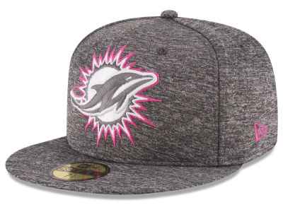 Miami Dolphins New Era NFL Breast Cancer Awareness Official 59FIFTY Cap