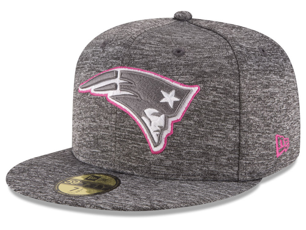 fcc9e10e245 New England Patriots New Era NFL Breast Cancer Awareness Official 59FIFTY  Cap