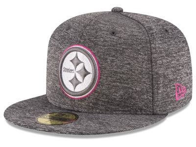 Pittsburgh Steelers New Era NFL Breast Cancer Awareness Official 59FIFTY Cap