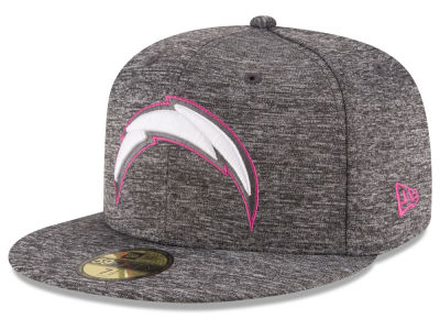 Los Angeles Chargers New Era NFL Breast Cancer Awareness Official 59FIFTY Cap