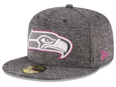 Seattle Seahawks New Era NFL Breast Cancer Awareness Official 59FIFTY Cap