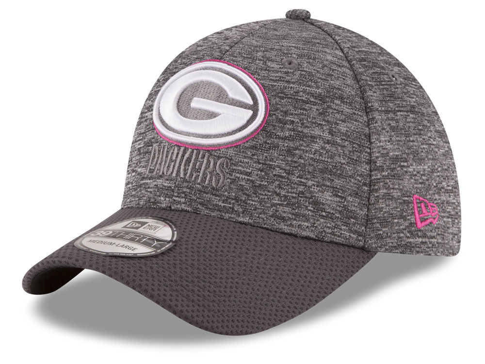Green Bay Packers New Era NFL Breast cancer Awareness Official 39THIRTY Cap   016381062