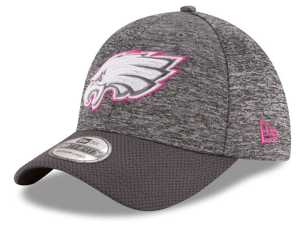 c235d9030ee Philadelphia Eagles New Era NFL Breast cancer Awareness Official 39THIRTY  Cap