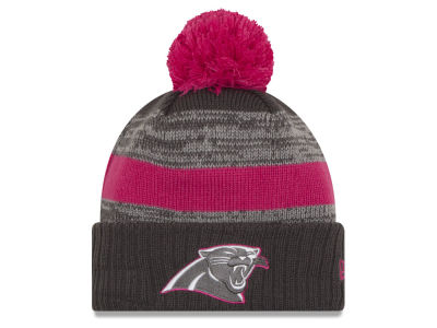 Carolina Panthers New Era NFL Breast Cancer Awareness Official Pom Knit