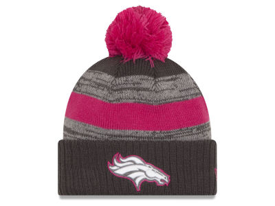 Denver Broncos New Era NFL Breast Cancer Awareness Official Pom Knit