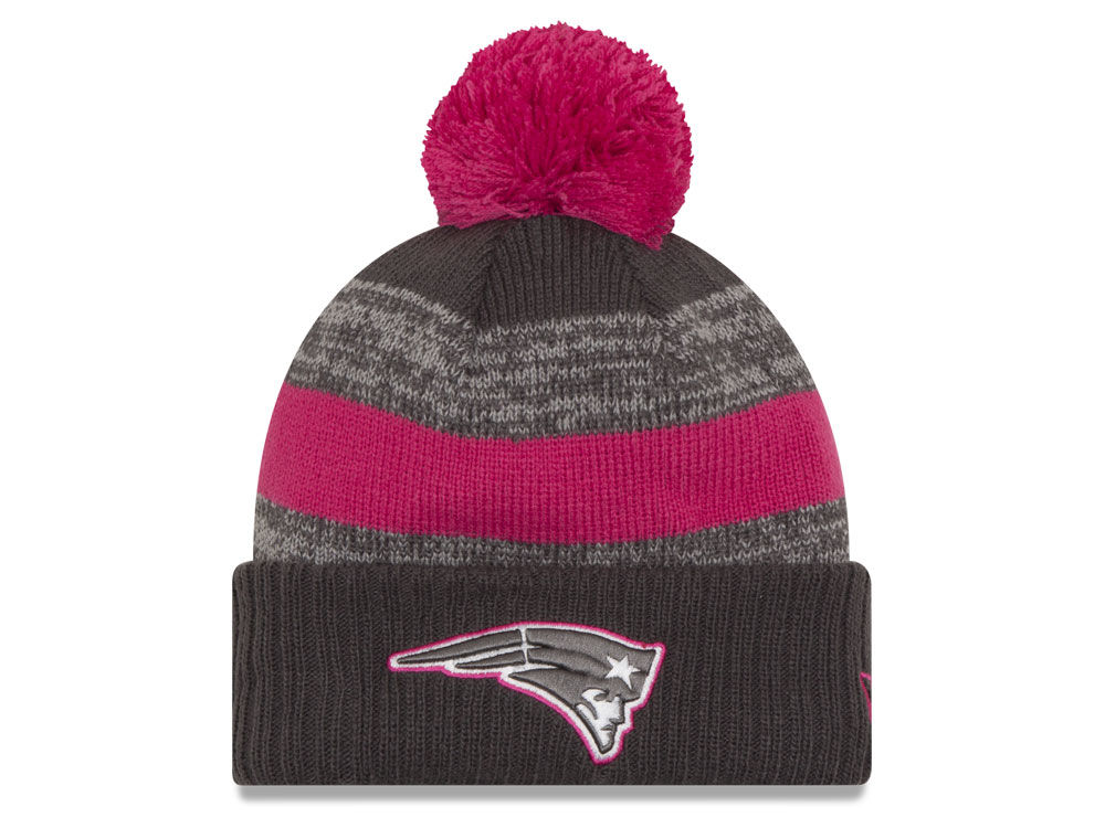 51ae421ac1e New England Patriots New Era NFL Breast Cancer Awareness Official Pom Knit