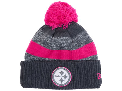 Pittsburgh Steelers New Era NFL Breast Cancer Awareness Official Pom Knit