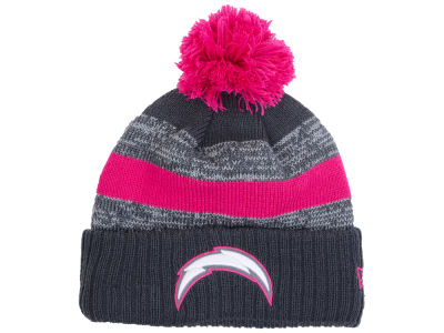 Los Angeles Chargers New Era NFL Breast Cancer Awareness Official Pom Knit