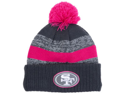 San Francisco 49ers New Era NFL Breast Cancer Awareness Official Pom Knit
