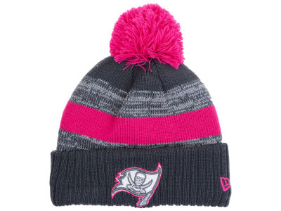 Tampa Bay Buccaneers New Era NFL Breast Cancer Awareness Official Pom Knit