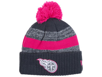 Tennessee Titans New Era NFL Breast Cancer Awareness Official Pom Knit