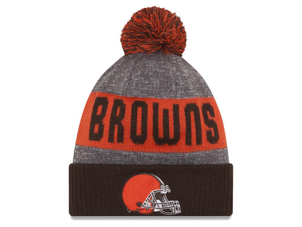 Cleveland Browns New Era NFL 2016 Official Sport Sideline Knit  b8436d12d