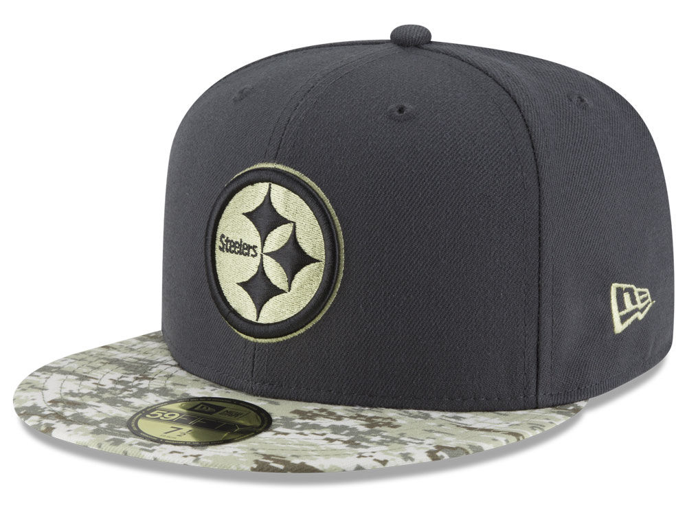 Pittsburgh Steelers New Era NFL Salute to Service Official 59FIFTY ... 42893b1a4