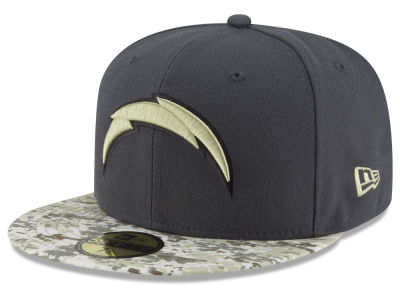 San Diego Chargers New Era NFL Salute to Service Official 59FIFTY Cap
