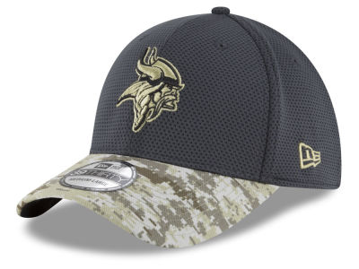Minnesota Vikings New Era NFL Salute to Service Official 39THIRTY Cap